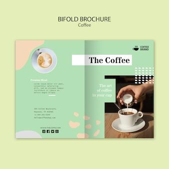 Шаблон брошюры двойного кофе