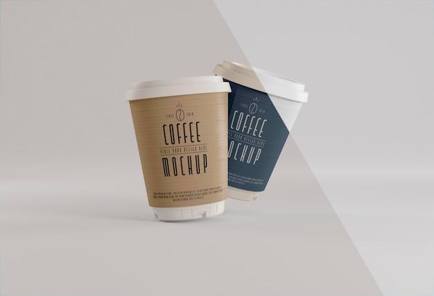 Брендинг кофе с макетом чашки