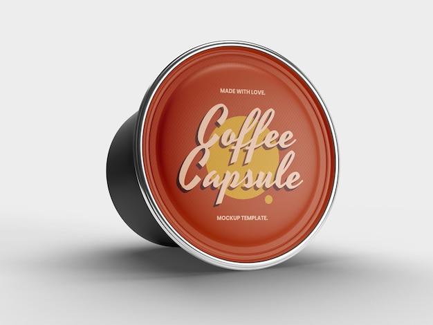 Шаблон макета кофейной капсулы