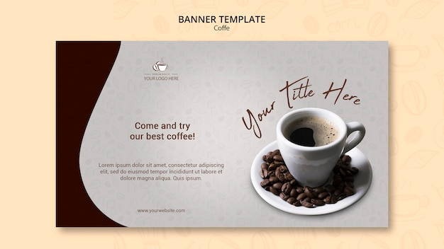 Coffee concept banner design