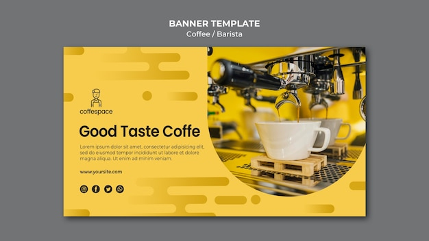 Coffee concept banner template