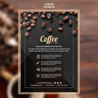 Coffee concept flyer template