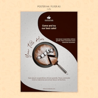 Stile poster concetto di caffè