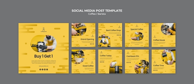 Coffee concept social media post template