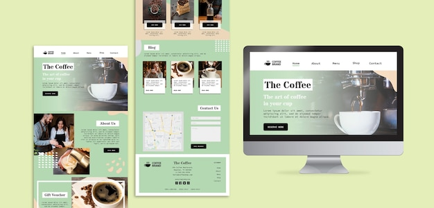 Coffee concept template Free Psd