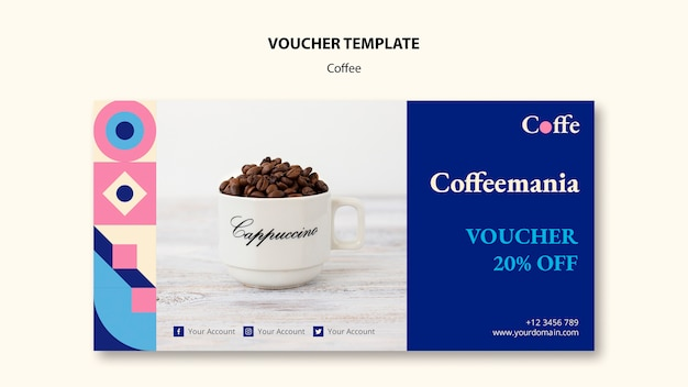 Coffee concept voucher template