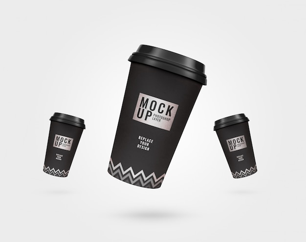 Coffee cup flyer mockup
