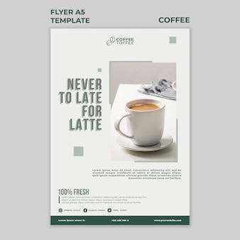Coffee cup flyer template