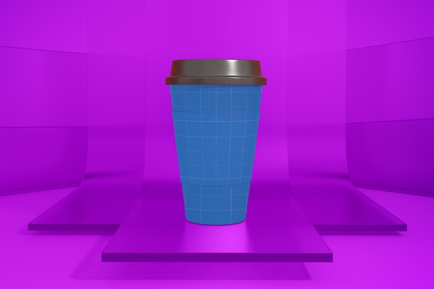Coffee cup on glass