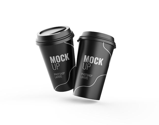 Чашка кофе изолированный макет 3d-рендеринга реалистичный