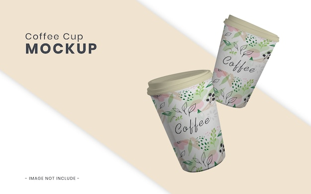 Изолированный макет чашки кофе