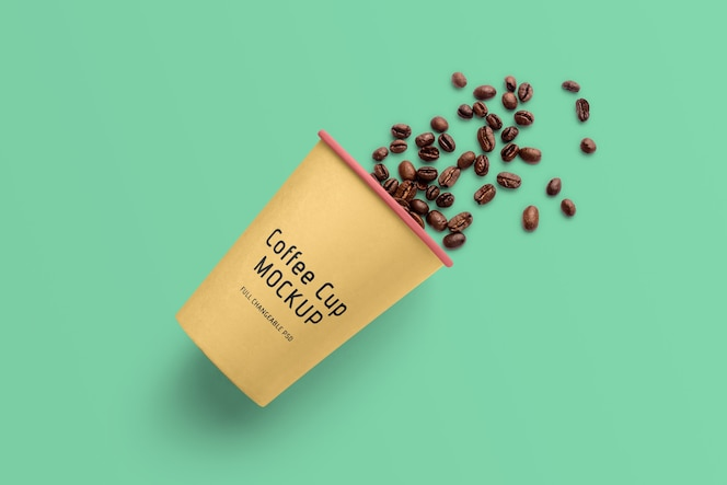 Coffee cup mockup isolated