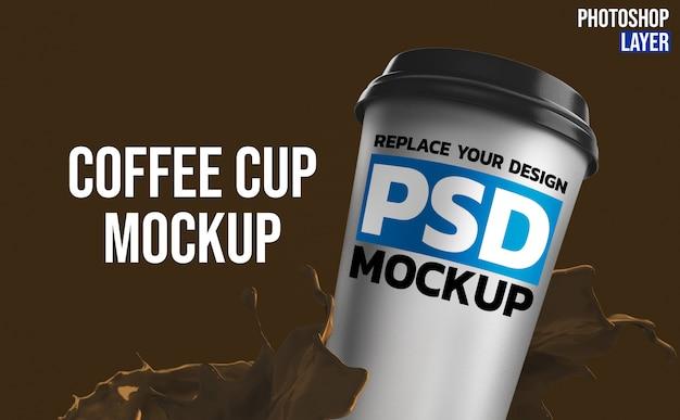Кофейная чашка макет рендеринг дизайн