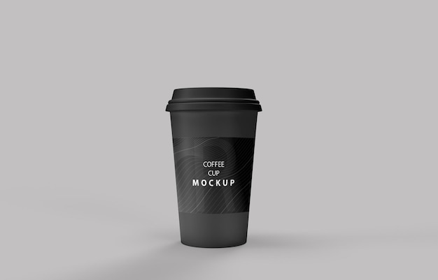 Coffee cup mockup with product stand