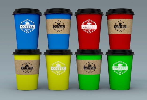 Coffee cup mockup