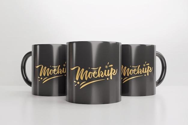 コーヒーカップマグカップのモックアップ