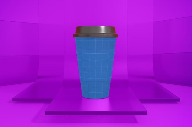 ガラスのコーヒーカップ