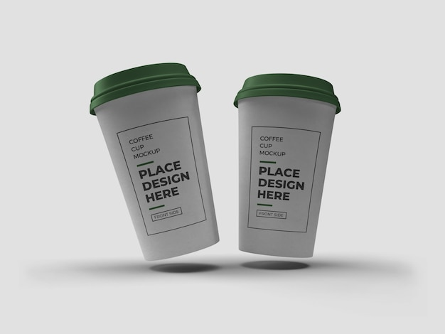 Макет упаковки чашки кофе изолированные
