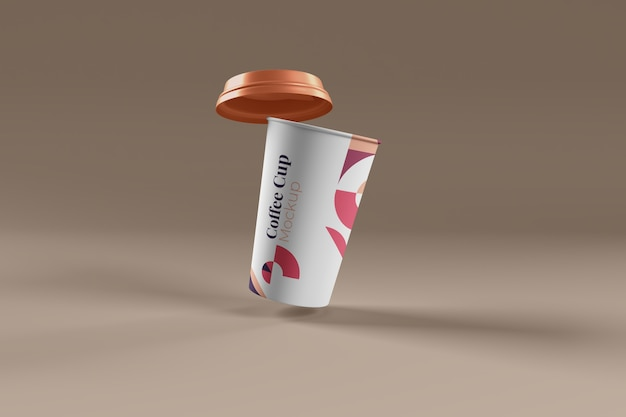 Coffee cup photo realistic mockup isolated