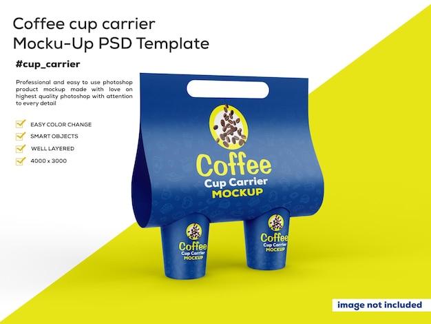 こぼれたコーヒーのモックアップ付きコーヒーカップ