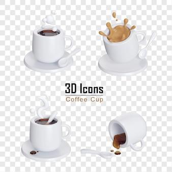 스플래시 3d 아이콘 절연 커피 컵