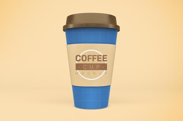 コーヒーカップのモックアップ。飲み物をテイクアウト