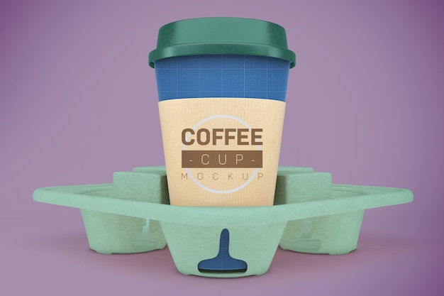 Coffee cups mockup. take away beverage