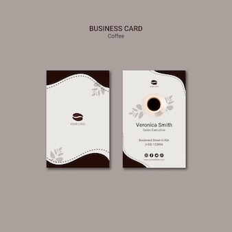Coffee drink business card template