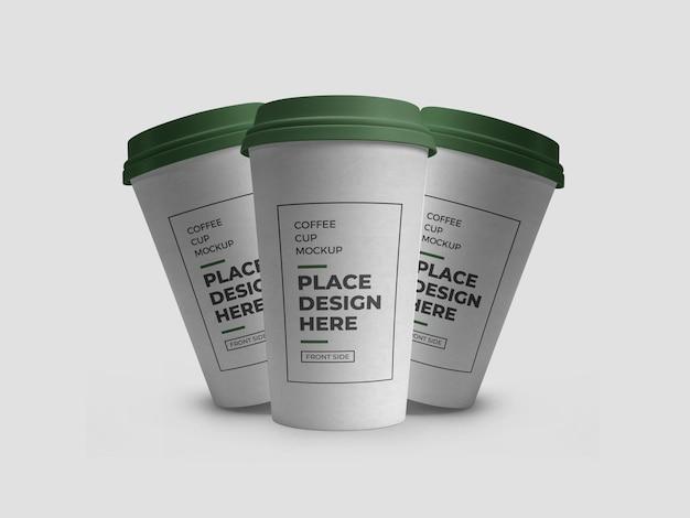 커피 음료 컵 포장 모형