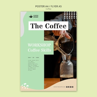 Coffee flyer concept template Free Psd