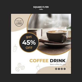 Coffee flyer template concept