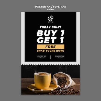 Coffee flyer with offer