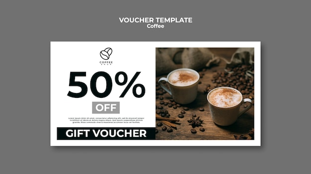 Coffee gift voucher template