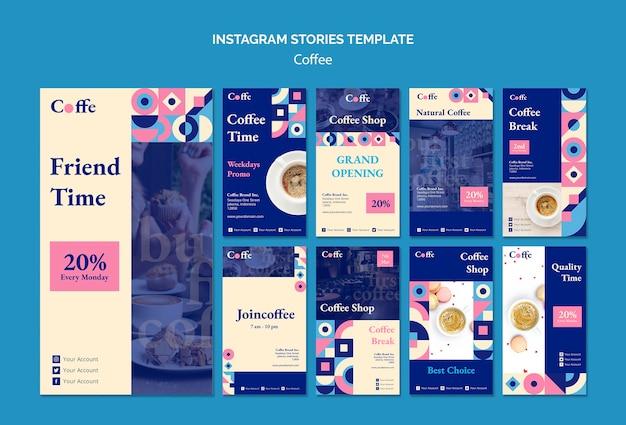 Coffee instagram stories template