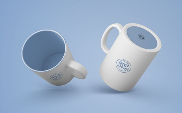 머천다이징을위한 커피 잔 모형
