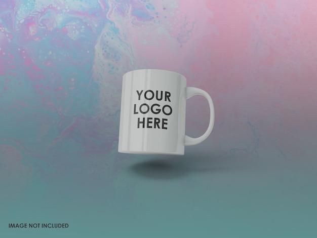 고립 된 커피 잔 이랑