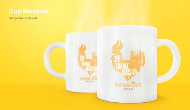 Coffee mug mockup isolated Premium Psd
