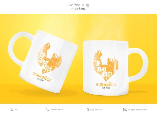 Coffee mug mockup isolated