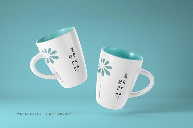 Coffee mug mockup with editable color