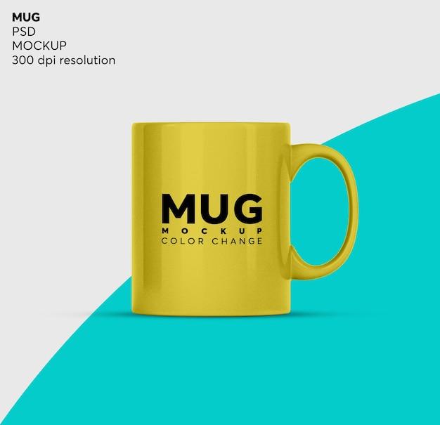 分離されたコーヒーマグまたはティーカップのモックアップ
