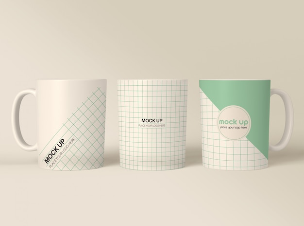 Coffee mugs mockup