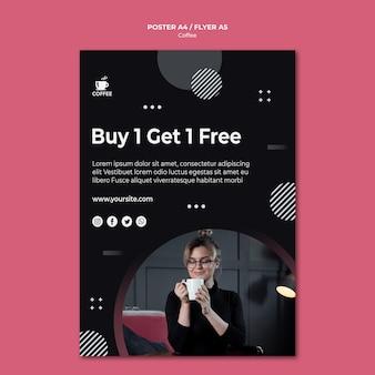 Design per volantini di caffè