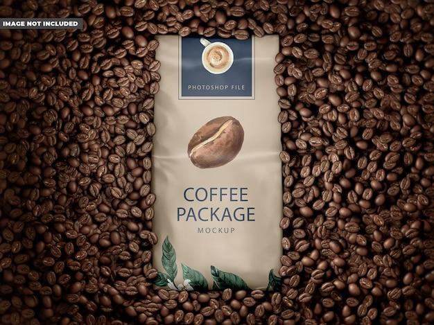 コーヒーパッケージのモックアップ