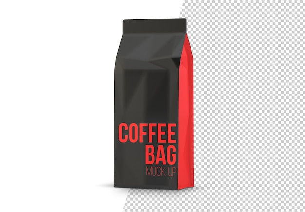 Coffee packaging bag isolated mockup