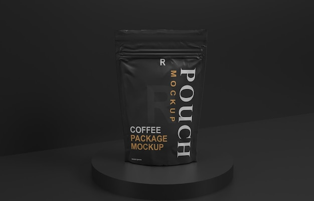 Coffee packaging sachet mockup design