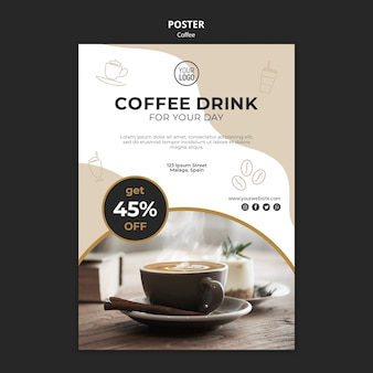 Coffee poster template theme