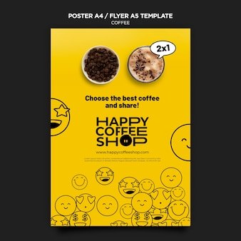 Coffee poster template
