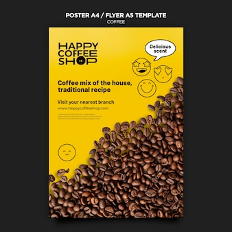 Coffee poster template Free Psd