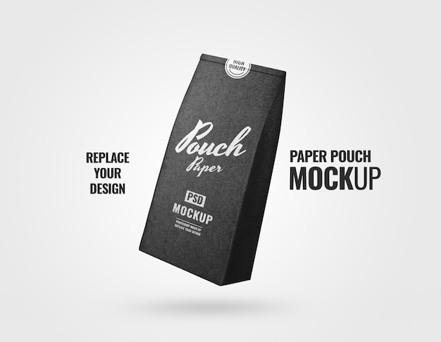 Coffee pouch mockup realistic