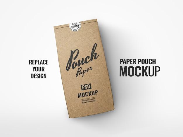 Coffee pouch paper craft реалистичный макет